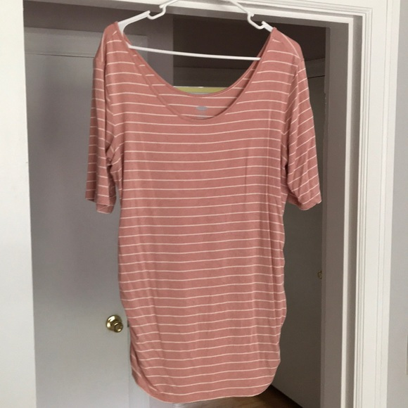 7a31b34884d6a Old Navy Tops | Womens Pink And White Striped Maternity Shirt | Poshmark